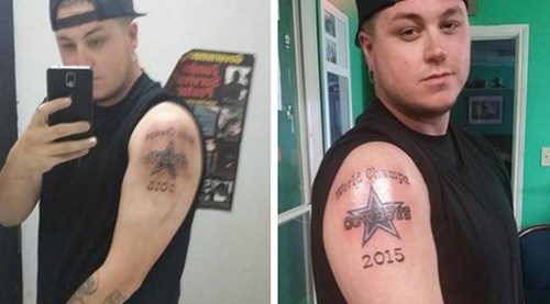 sports bad idea dallas cowboys Ugliest Tattoos football - 8286833408