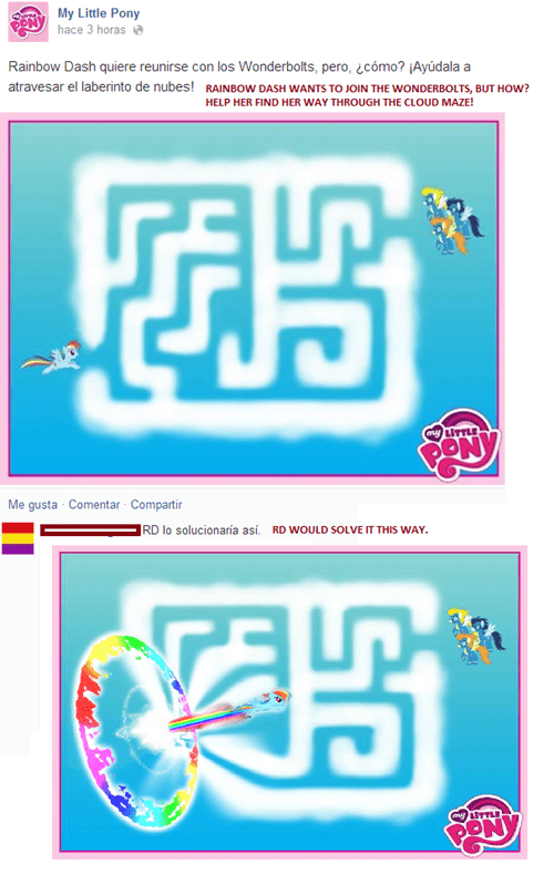 wonderbolts maze rainbow dash - 8287443200