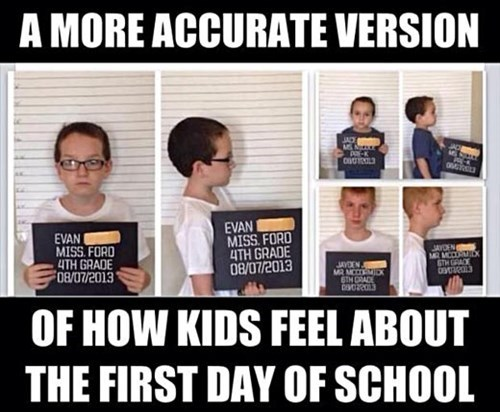 school kids mug shot parenting first day of school - 8287806464