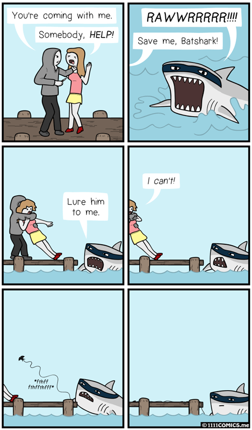 shark batman web comics