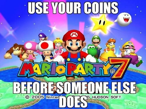 mario party,coins,life lessons