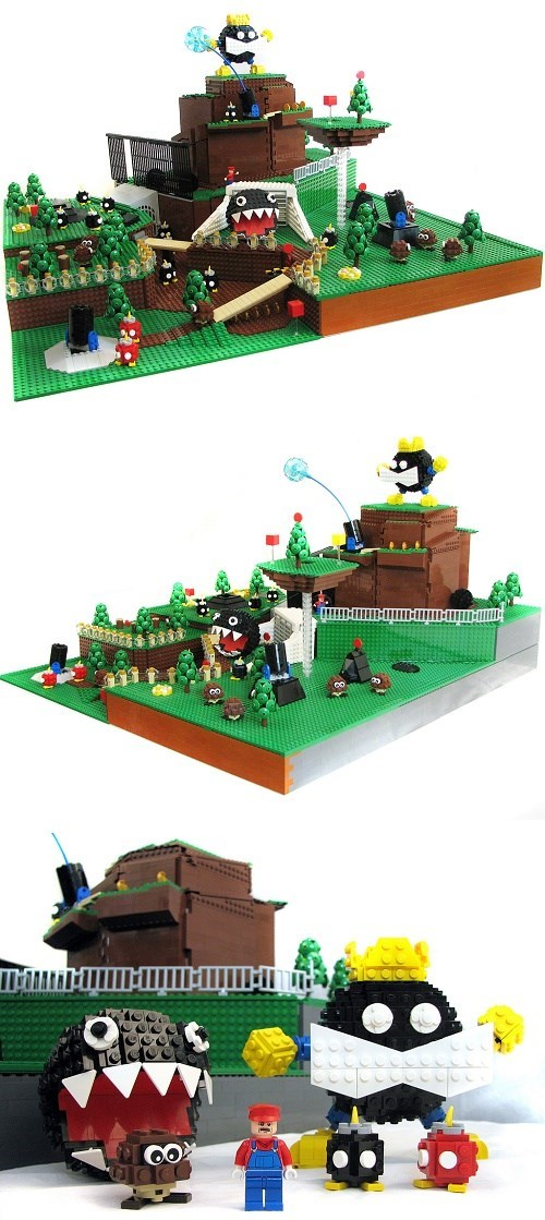 Bob-omb Battlefield in LEGO Form