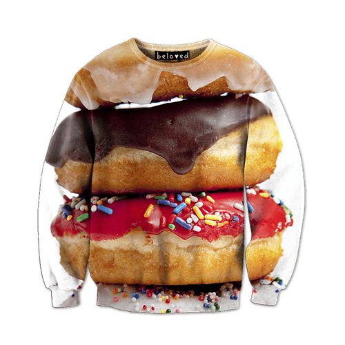 doughnuts donuts poorly dressed sweatshirt - 8288014848