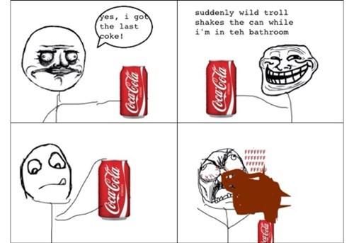 rage,trollface,soda