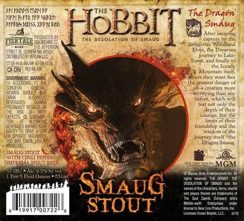 beer stout The Hobbit smaug - 8288065536