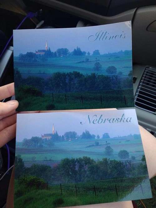 illinois,nebraska,postcards