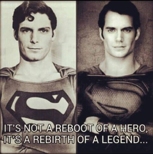 Christopher Reeve Then And Now superman Henry Cavill - 8288846336