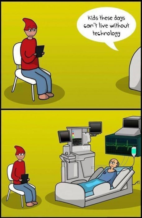 hospitals kids today technology old people web comics - 8288860672