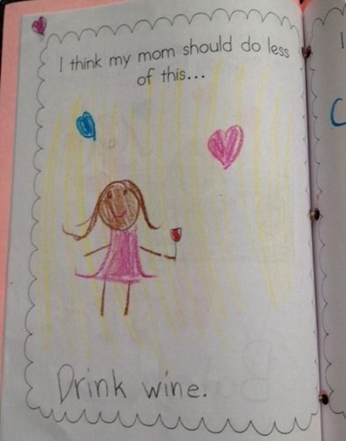 kids wine mom funny - 8288958976