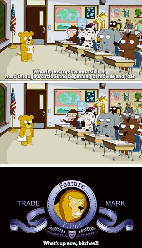 mgm lion when I grow up funny - 8288978432