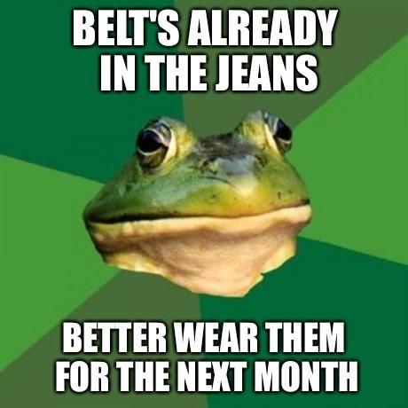 jeans pants foul bachelor frog - 8288984320