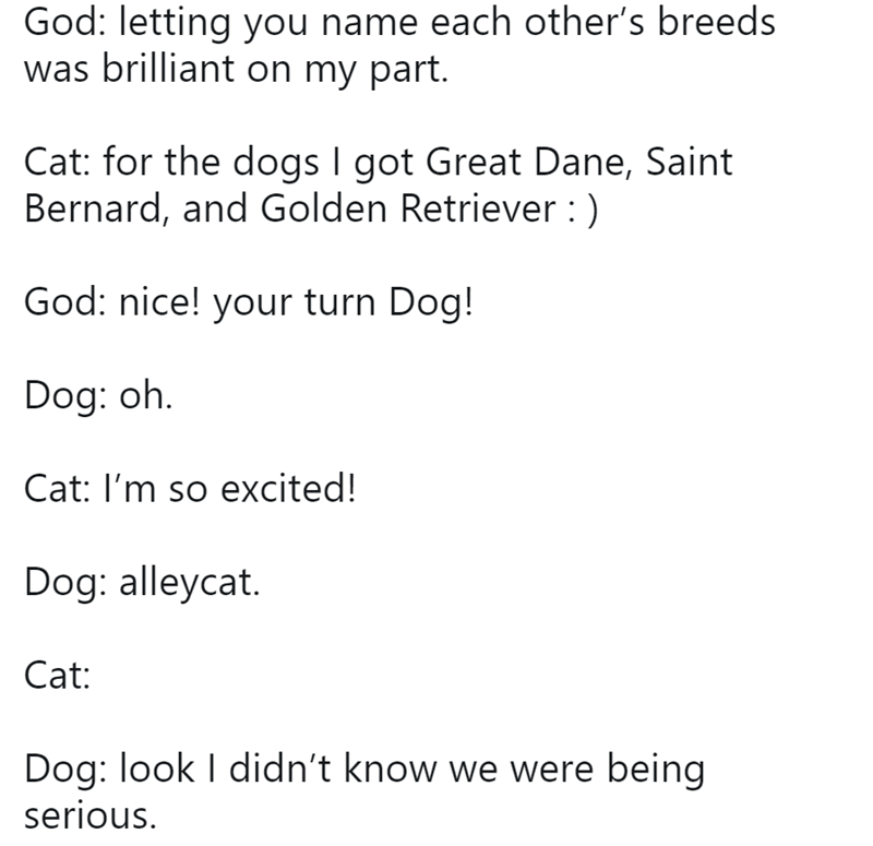 god conversations funny tweets animals - 8289029