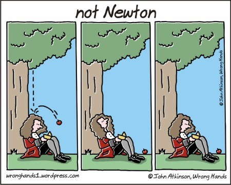 isaac newton Gravity web comics - 8289171456