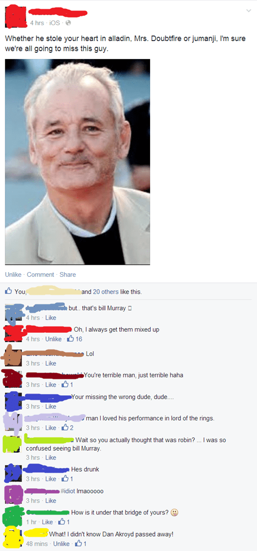 bill murray facebook robin williams - 8289204224