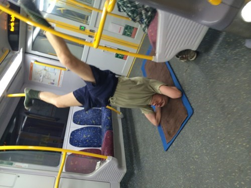 public transportation Subway yoga fail nation g rated - 8289262080