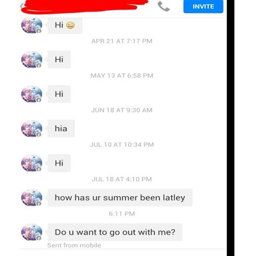flirting cringe thirsty