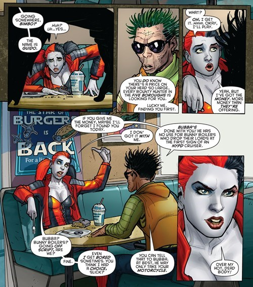 Straight off the Page,Harley Quinn