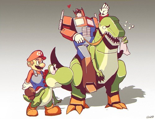 crossover Fan Art cartoons Super Mario bros - 8289778176