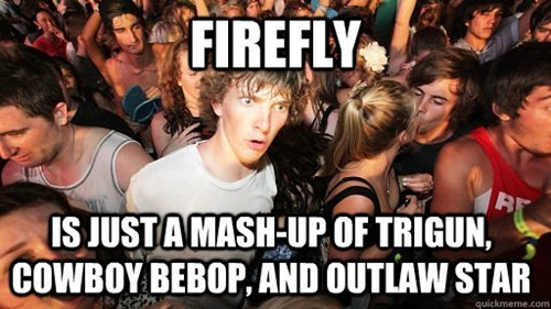 crossover,anime,Firefly,sudden clarity clarence