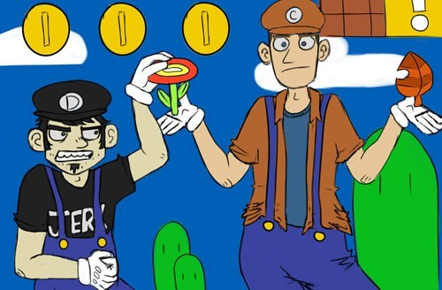 crossover Fan Art cartoons Super Mario bros dan vs - 8290126592