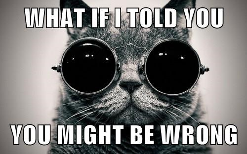 WHAT IF I TOLD YOU  YOU MIGHT BE WRONG