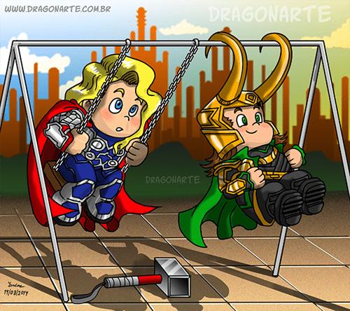 loki Thor web comics - 8290477056