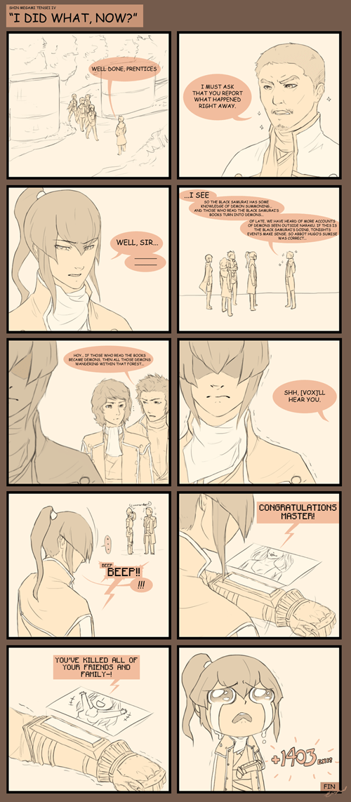 shin megami tensei IV,web comics