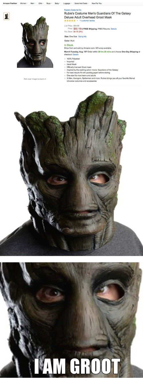 mask,for sale,nightmare fuel,groot