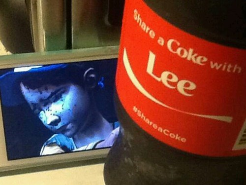 Sad,coke,lee,clementine,The Walking Dead
