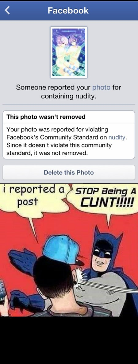 REPORTING POSTS AREN'T COOL
