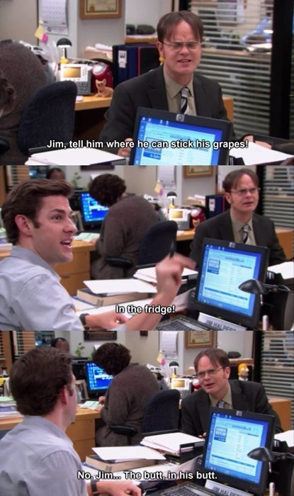 the office jim halpert dwight schrute insult - 8291043584