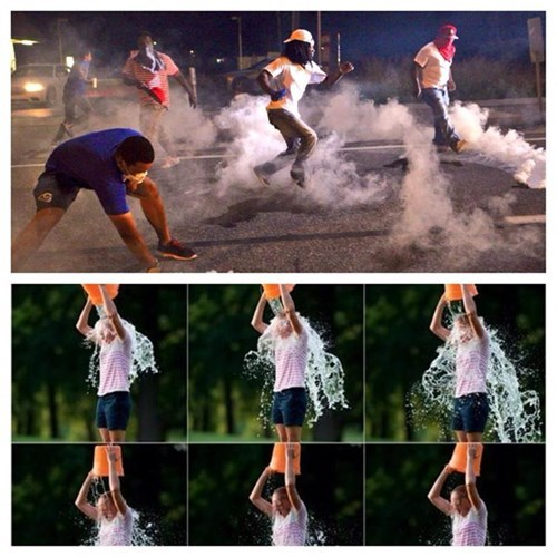 ferguson demilitarize the police ice bucket challenge sad truth - 8291048448