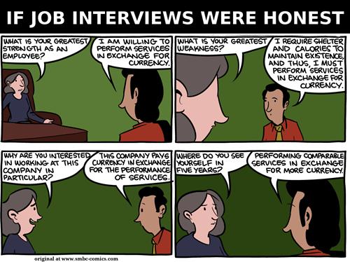 If Job Interviews Were Honest - Web Comics - 4koma comic strip, webcomics,  web comics