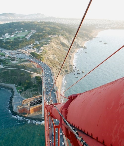 Pic of the Day: Check Out the View From the Top of the Golden Gate Bridge