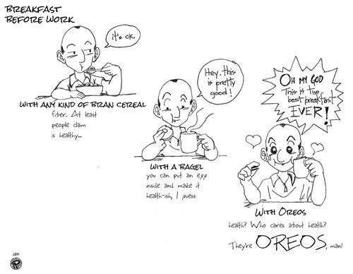 breakfast Oreos food bagels cereal web comics