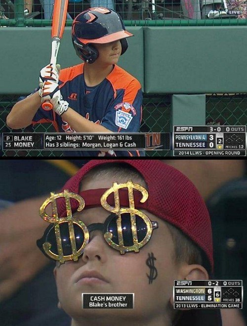 little league world series,espn,cash money,baseball