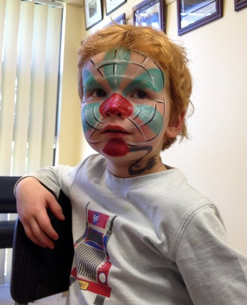 parenting,fan,face paint
