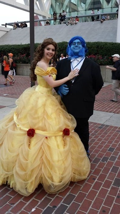 Beauty and the Beast disney cosplay xmen puns - 8291683328