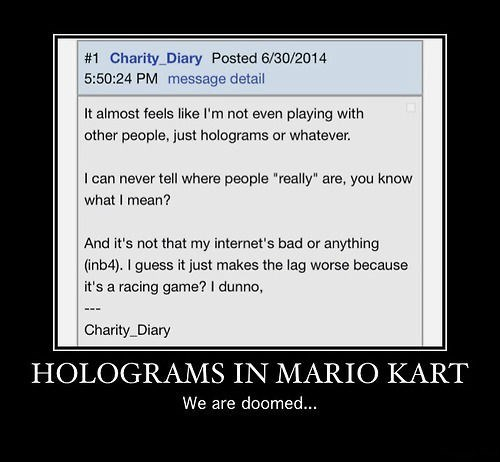 wtf holograms Mario Kart funny - 8291718144