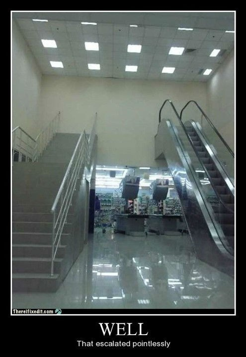 wtf,bad idea,escalator,funny