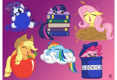 Fan Art,mane 6,squee