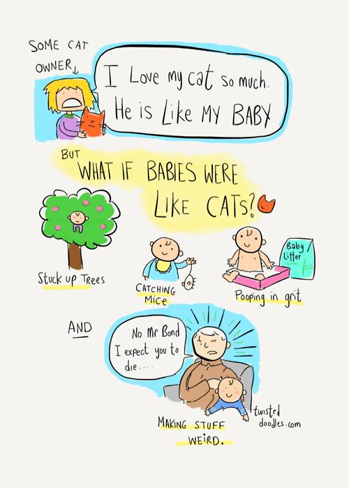 Babies Cats web comics - 8291816704