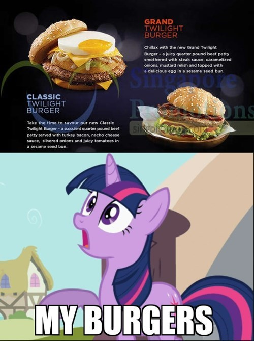 twilight sparkle,burgers