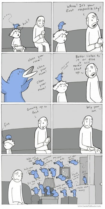 responsibility,birds,growing up,parenting,web comics