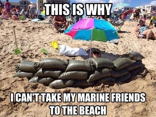marines usmc the beach