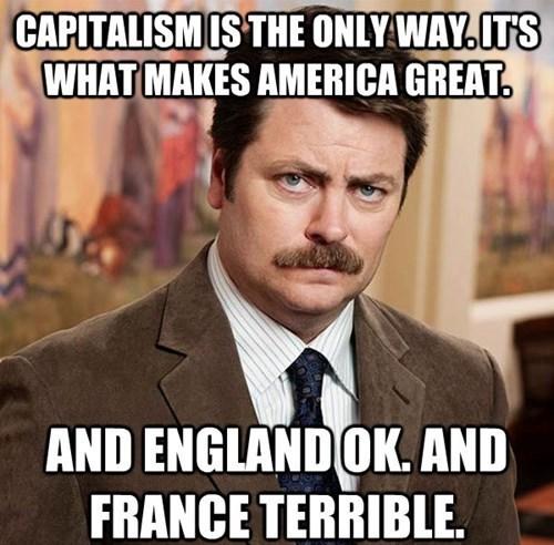 ron swanson england capitalism france - 8292641792