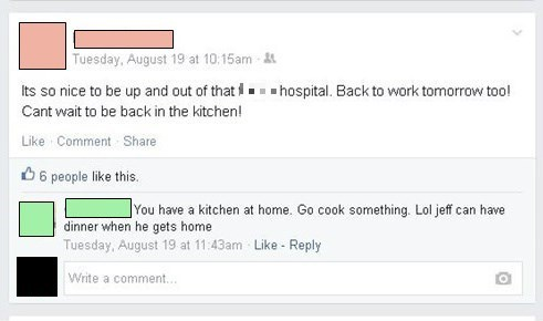 timing,cooking,hospital