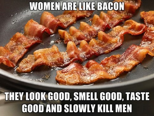 relationships,food,women,bacon,dating