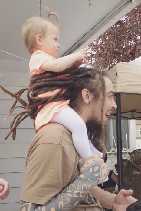 dreadlocks piggyback poorly dressed kids parenting g rated