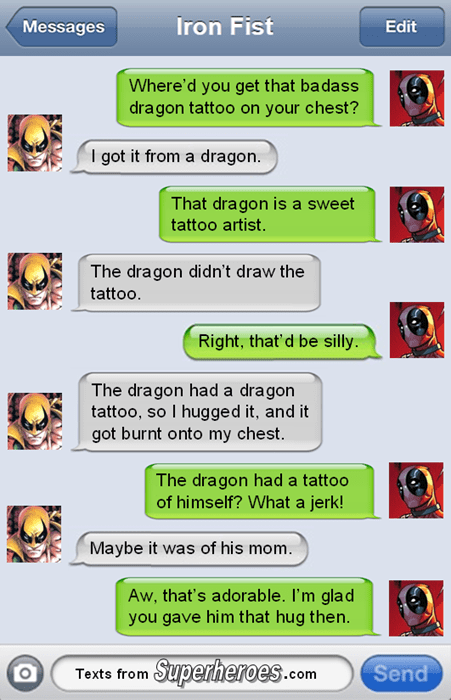 dragon iron fist deadpool - 8292783872